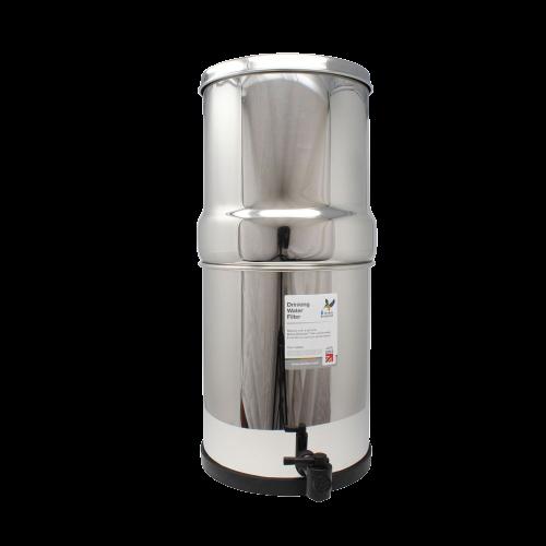 Sistema a gravità British Berkefeld® in acciaio inox