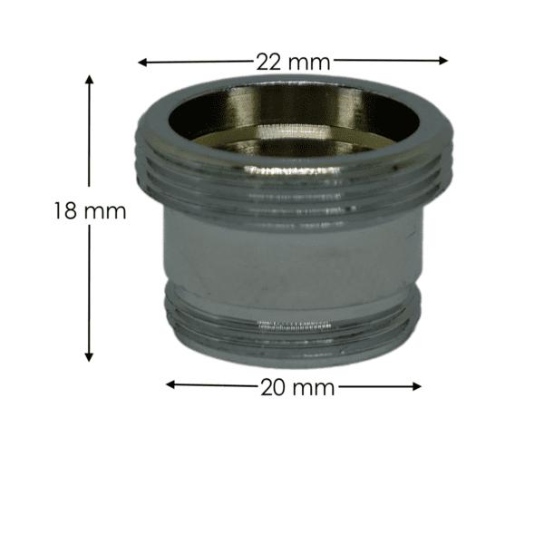 adattatore rubinetti M20 x M22 - dimensioni
