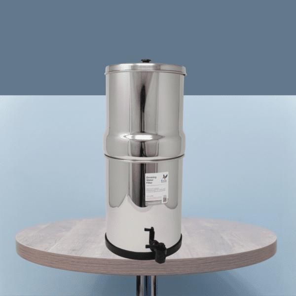 depuratore acqua a gravità portatile in acciaio inox