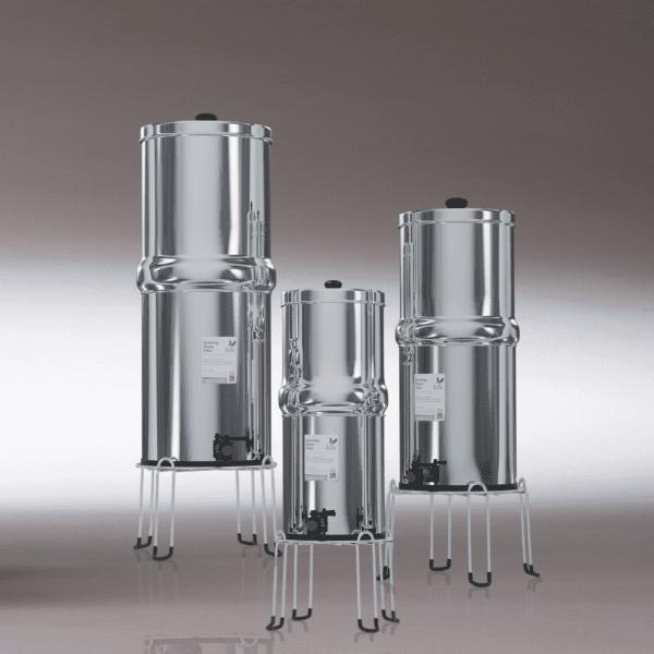 depuratori a gravità british berkefeld 6litri, 8,5litri e 12 litri su stand (non incluso)